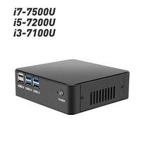 Оконные рамы 10 Мини ПК компьютер Intel Core i7 7500U i5 7200U i3 7100U 4 К к Поддержка HDMI VGA М 300 м Wi Fi Gigabit Ethernet Minipc NUC