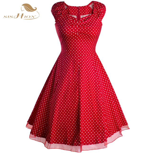 Summer Style White Red Women Dresses Plus Size Short Sleeve 50s Rockabilly Dress  Casual Polka Dot Swing Vintage Dresses VD0182 fa925fba3d30