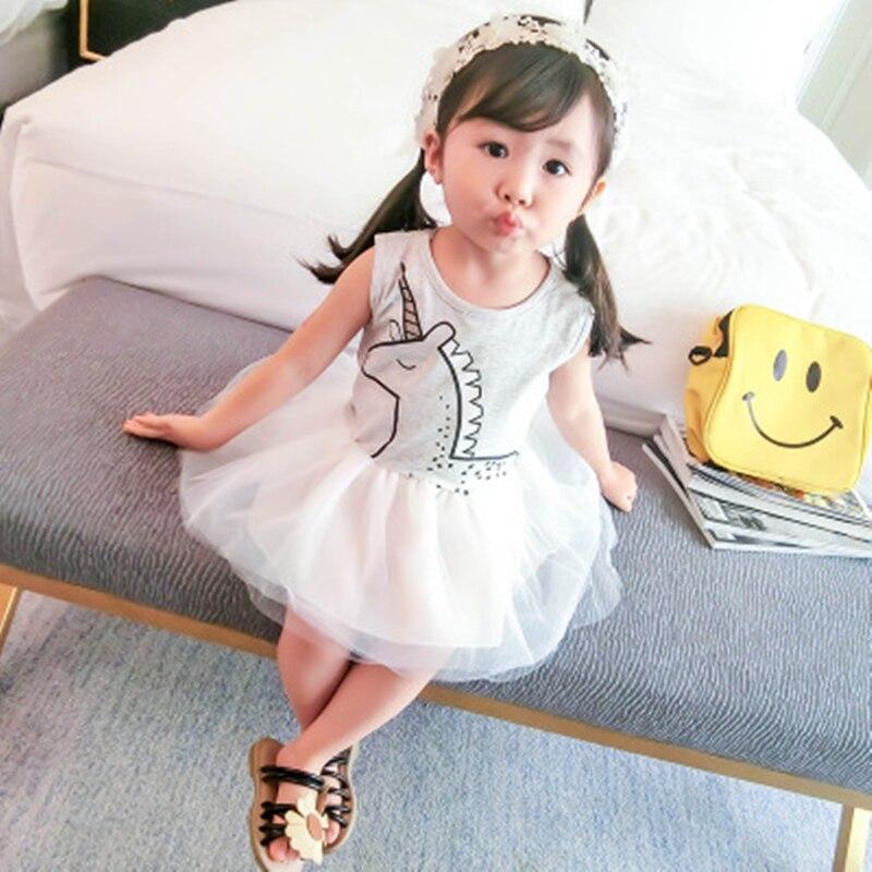 2018 Summer Girls Dresses Brand Baby Kid Clothes Fashion Cartoon - Ropa de ninos