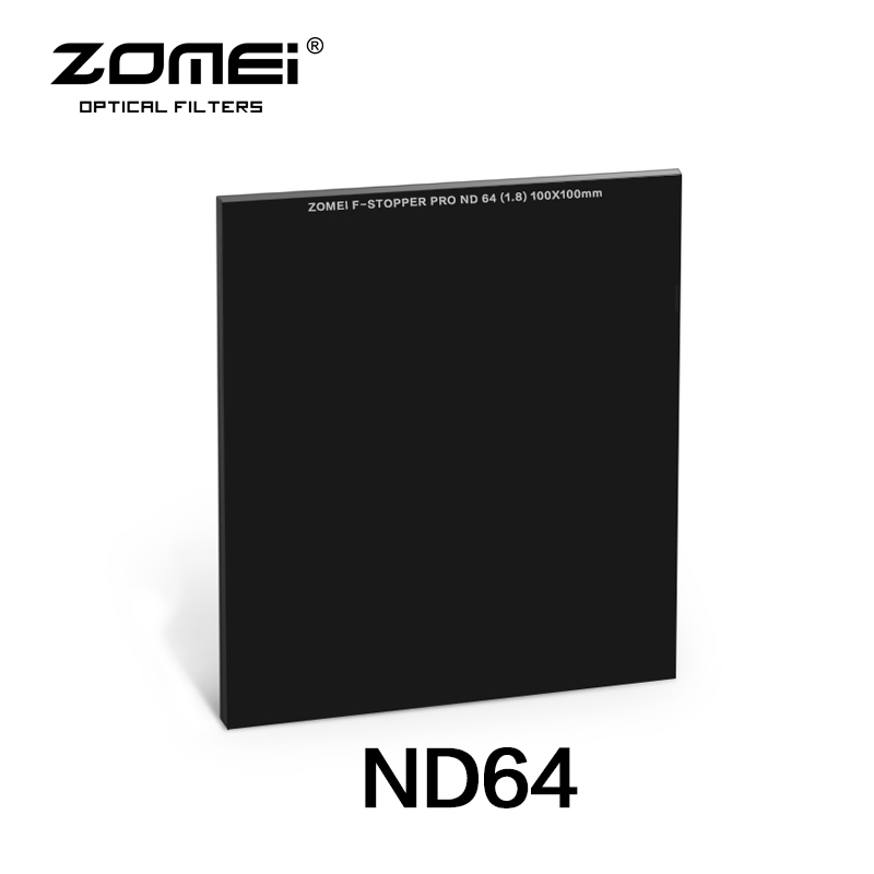 Zomei 100*100mm Square ND Optical Glass Neutral Density  6 stop/ND64 Filter haida 100mm nd1000 optical glass neutral density nd filter 100 cokin z compatible