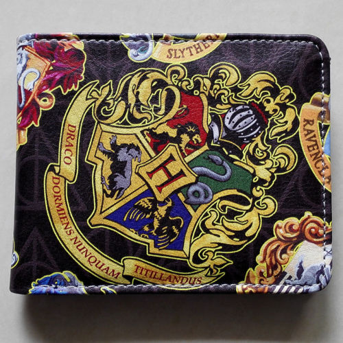 2018 Movie Harry Potter Hogwarts School Badge wallets Purse Multi-Color W225 personalized harry potter hogwarts school badge wax seal stamp w wax set new