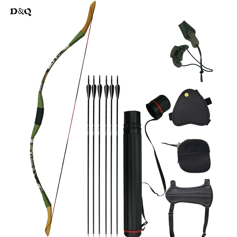 Traditional Recurve Wooden Bow Set for Lady Youth Children Kids Outdoor Hunting Shooting Target Practice Sport Slingshot Longbow ...