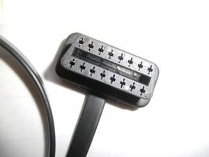 Image 5 - 5% de descuento ELM327 plano y delgado como Noodle OBDII OBD2 16Pin macho a hembra codo OBD2 Cable de extensión 16 pin