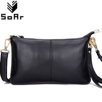 First Layer Cow Leather Women Messenger Bags Phone Clutch Bag High Quality Genuine Leather Bag Small