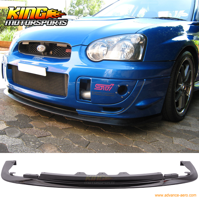 For 2004 2005 Impreza WRX STI PP Front Bumper Lip Spoiler - Painted Glossy Black USA Domestic Free Shipping for 2004 2005 ford ranger vertical hood grill grille brand new chrome usa domestic free shipping hot selling