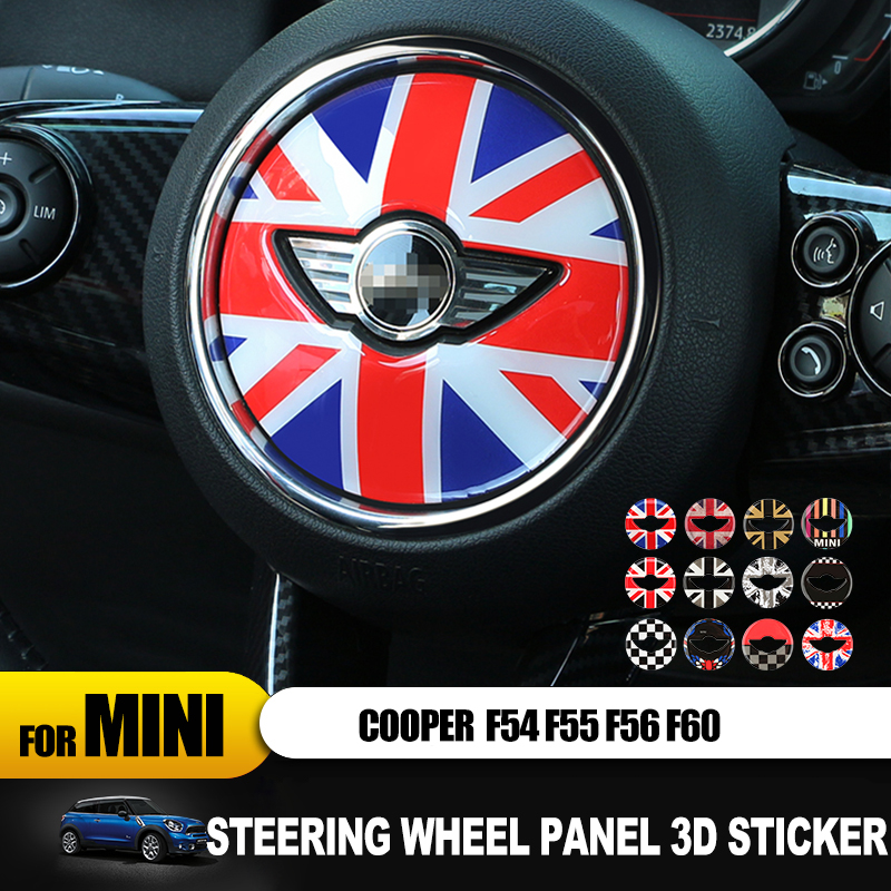 New Arrival Steering Wheel Panel 3D Sticker Epoxy Sticker For Mini Cooper F55 F56 F60 Countryman Car-styling Decorative Sticker