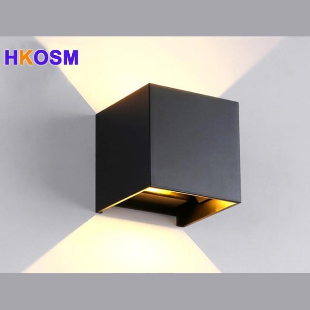 19 71 8 De Reduction Moderne Bref Cube Reglable Surface Montee 12 W Mur Led Lampe Exterieure Etanche Ip65 Aluminium Appliques Murales Jardin