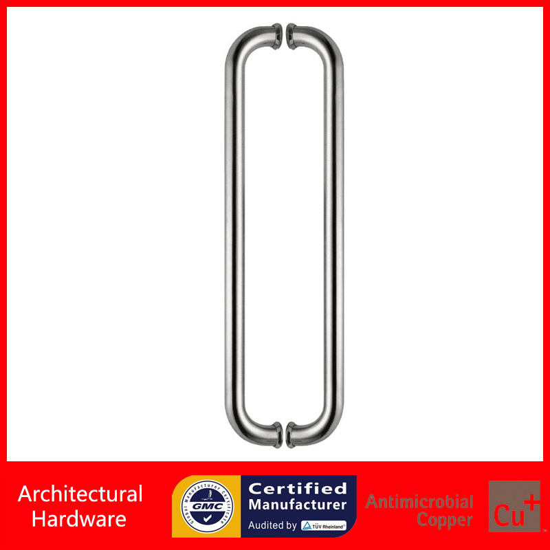 Durable 304 Stainless Steel Brushed Entrance Door Pull Handle For Timber/Glass/Wooden/Metal Doors PA-127-25*300mm 2000mm length square tube golden entrance door handle stainless steel pull handles for wooden metal glass doors pa 637