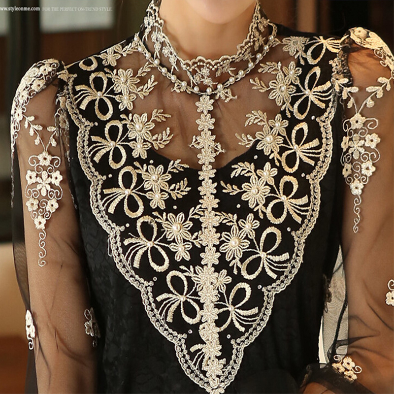 Weinlese-Spitze-reizvolle lange transparente Ineinander - Damenbekleidung - Foto 2