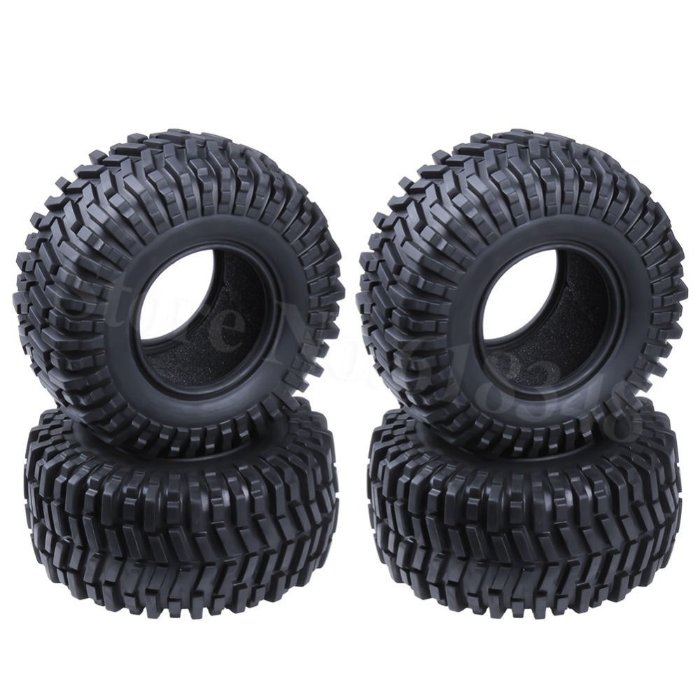 4PCS 2.2 Inch 128mm Rubber Tires With Foam Inserts ID:64mm Width:55mm For 1/10 RC Rock Crawler Remote Control Car Tyres 4pcs 1 9 rubber tires