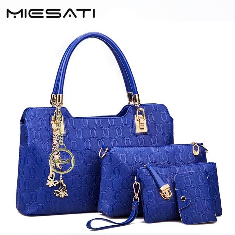 MIESATI Brand New 4 Sets Composite Bag Luxury Handbags Women Embossing PU Leather Messenger Shoulder Bags female Ladies Purses