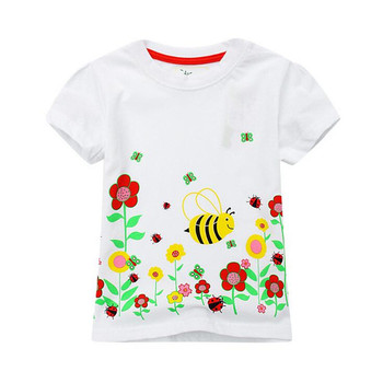 Jumping meters kids Girls T shirts children summer clothing baby girls cotton clothes hot selling Tops & Tees