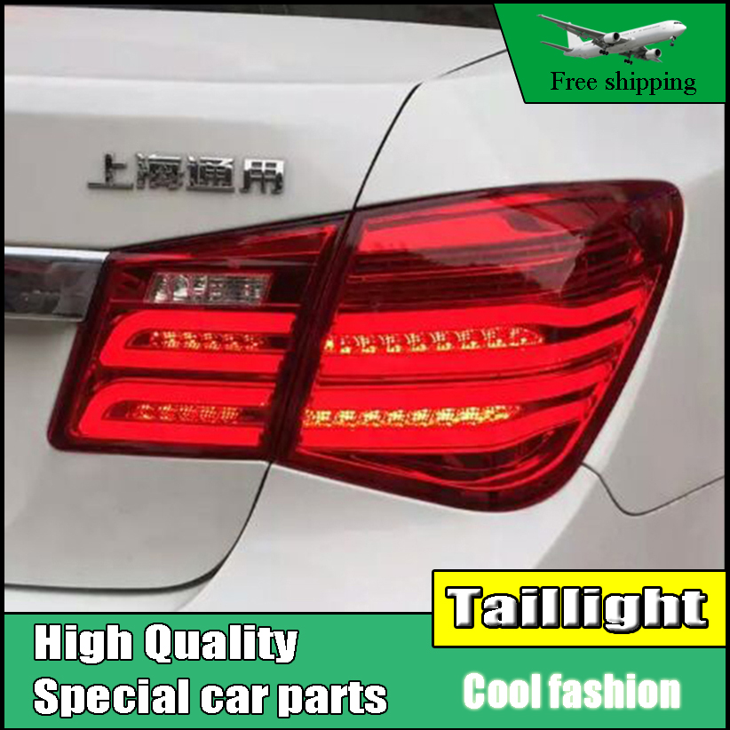 Car Styling LED Tail Lamp For Chevrolet Cruze 2009-2014 Sedan Taillights Rear Light DRL+Turn Signal+Brake+Reverse Accessories car styling led tail lamp for a4 tail lights 2009 2012 for a4 rear light drl turn signal brake reverse led light