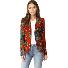 Элегантных женщин случайные balzer куртки африканской печати моды пальто дамы повседневная dashiki слоя африке одежда