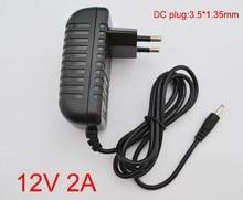 50 PCS 12 V 2A AC 100 V   240 V Switching power adapter DC 2000mA Supply EU ปลั๊ก DC 3.5 มม. x 1.35 มม.