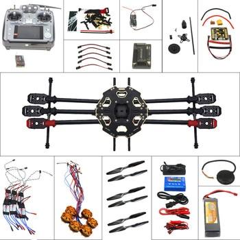 F07807-A Kit completo Drone 6-eje aviones Kit de 680PRO marco 700KV Motor GPS APM 2,8 de Control de vuelo AT10Transmitter