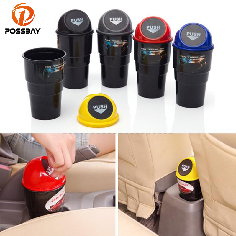 POSSBAY Car Plastic Trash Can Mini Cars Eco-Friendly Kitchen Worktop Waste Bins Rubbish  ...