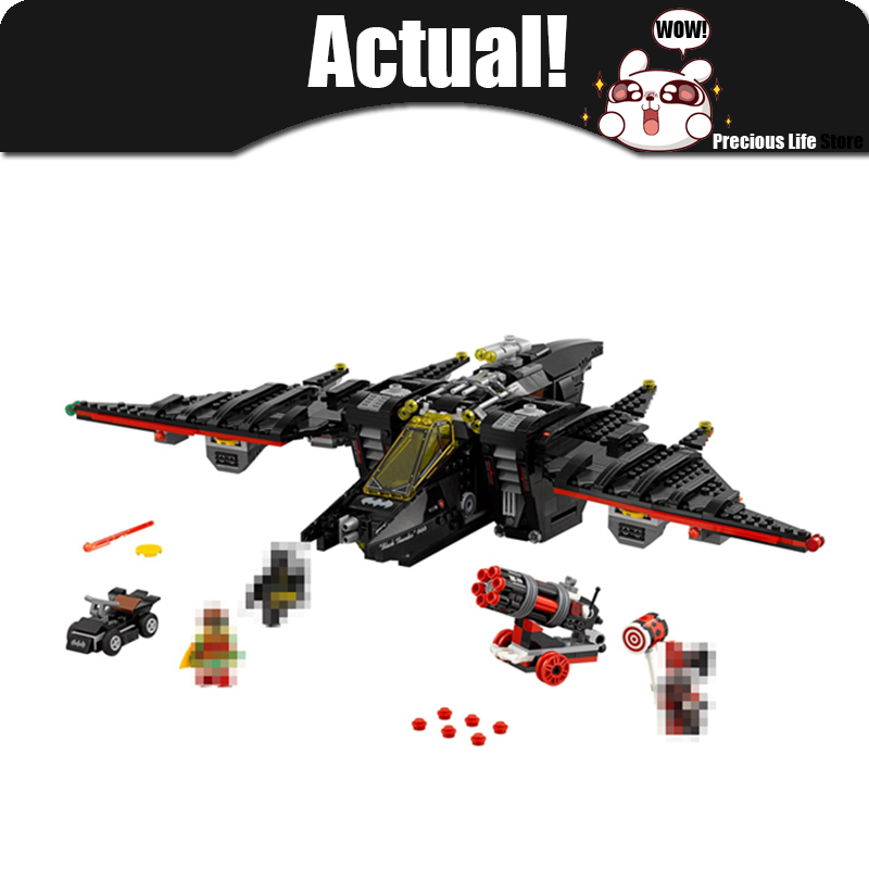 Batman Movie The Batwing LEPIN 07080 HARLEY QUINN ROBIN AIRCRAFT Building Blocks 1068pcs Bricks Toys Gift For Children 70916 loz mini blocks batman robin ironman thor loki harley quinn poison mini super hero bricks diy building blocks toys gift