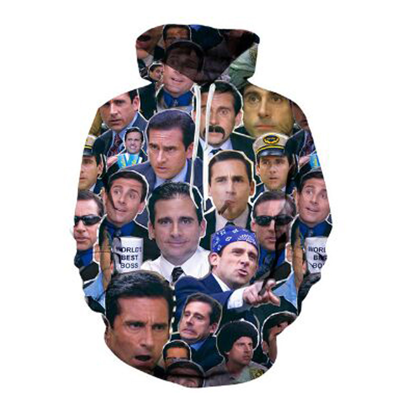 Many Faces Off Michael Scott Hoodies Women Upgrade 3XL Hip Hop Autuom Winter Tops Casual Homme 3D Funny Hoodied Graphic For Man