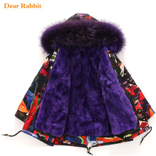 Winter Jacket Clothing Coats Padded-Clothes Parka Faux-Fur Kids Outwear Hooded Teen Girl