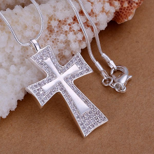 On Sale 925  Silver Cross Charm Pendant  Fashion Accessory for Jewelry Making Relgious Jewelry