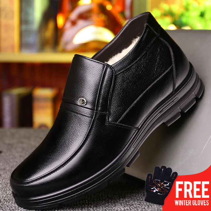 OSCO 2018 New Classic Men Boots Shoes Winter Warm Fur Snow Boots Men Slip On Shoes Boot Non-slip High Quality Outdoor Shoes Man mulinsen brand new winter men sports hiking shoes cowhide inside keep warm sport shoes wear non slip outdoor sneaker 250666