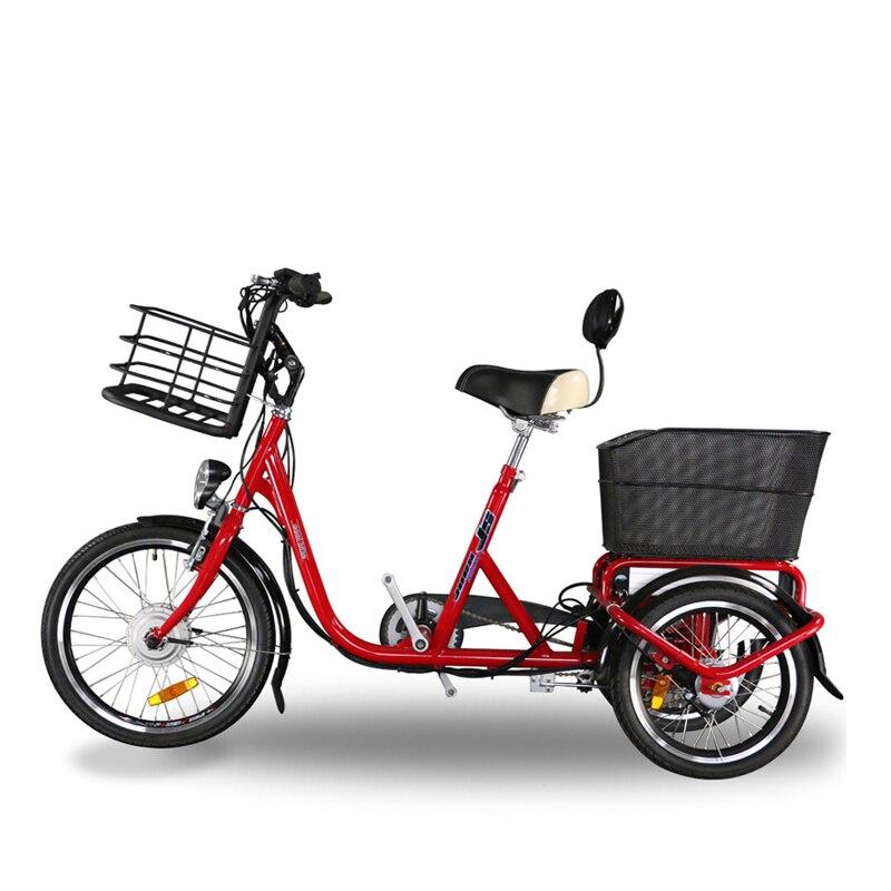 Tricycle électrique 36 V batterie au Lithium de luxe type vélo électrique 36 V sans balai moyeu moteur en alliage d'aluminium cadre E vélo nouveauté