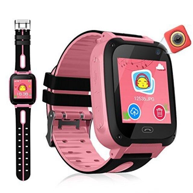 GPS Tracker Kids Camera Smart Watch Mirco SIM Calls Anti-Lost LBS SOS Location Alarm for iPhone iOS Android Children Smartwatch