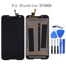 Original Para Blackview BV5000 componente LCD screen Display Toque digitador Assembléia Para Blackview BV5000 substituição de Peças de Telefone