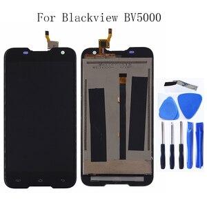 Image 1 - Original Para Blackview BV5000 componente LCD screen Display Toque digitador Assembléia Para Blackview BV5000 substituição de Peças de Telefone