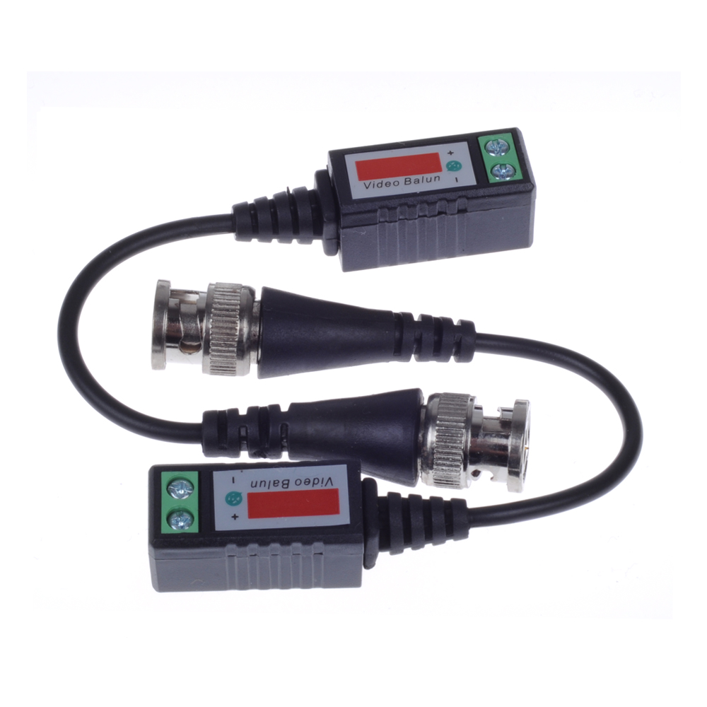 Twisted Bnc Cctv Video Balun Passive Transceivers Utp Cat5 Color Code As Well Audio Over Wiring Harness Up To 3000ft Range In Transmission Cables From Security