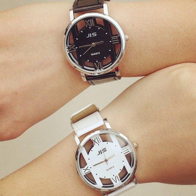1cb4dad151a 2017 Nova Marca Esportiva Moda Relógios Unisex Relógios de Couro Quartz  Analógico Relógio de Pulso Das