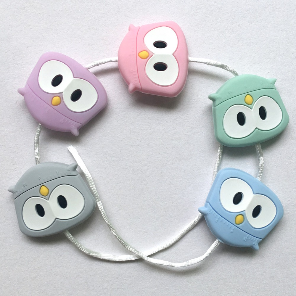 chewable silicone owl beads