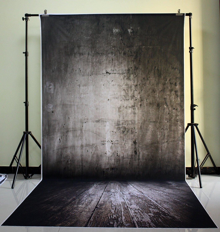 150x300 cm coton Polyester foncé couleur profonde fond de noël fête toile de fond enfants Photo noir ombragé béton mur XT-539