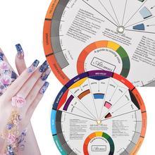 Профессиональная татуировка ногтей пигмент татуировки 12 цветов колесо бумажная карта обеспечивает профессиональные ногти пигмент колеса бумажная карта