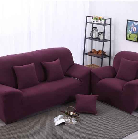 European Pure Color Combination Of Three People Cloth Art Sofa Set