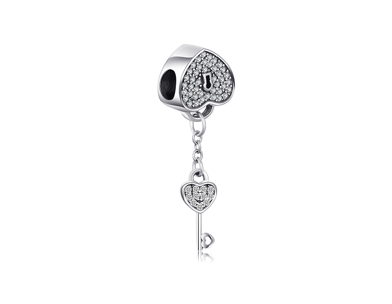 HTB1C6KkbiHrK1Rjy0Flq6AsaFXab JewelryPalace Heart Key 925 Sterling Silver Beads Charms Silver 925 Original For Bracelet Silver 925 original For Jewelry Making