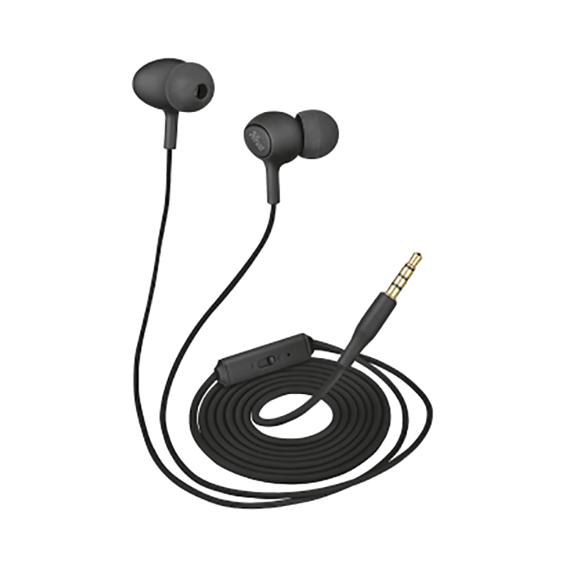 Earphones Trust Ziva Black