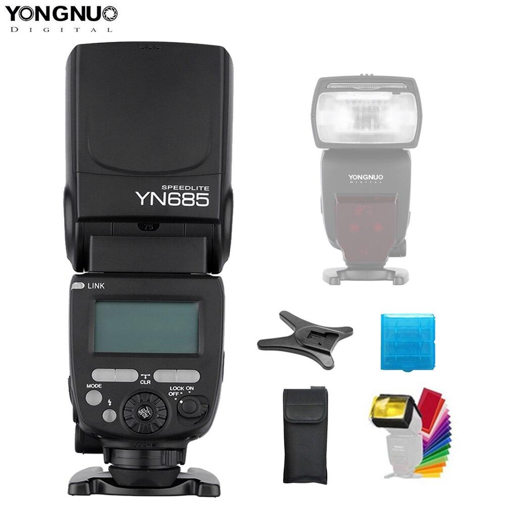 YONGNUO YN685 N/C Flash HSS 2.4G GN60 sans fil Speedlite TTL Flash pour Canon 1300D Nikon D7200 D750 D3400 D7500 appareil photo reflex numérique