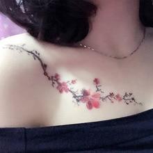 VEAMOR 2PCS Temporary Tattoo Plum Blossom Design Waterproof Tattoo Sticker Fake Tattoo Sleeve Transfer Tattoo Art