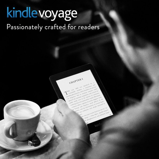 """Kindle Voyage 6"""" e-Book Readers High-Resolution Display (300 ppi) with Adaptive Built-in Light PagePress Sensors WiFi"""