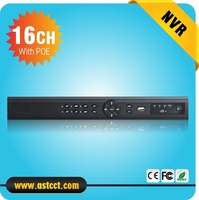 Face Detection Full HD 1080P CCTV NVR 16CH NVR Wih 8ch POE For IP Camera