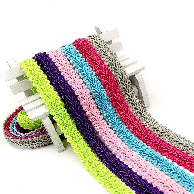 1,2 см кривой хлопковая кружевная отделка, плетеная лента ткань ручной работы сделай сам одежда материалы для шиться ремесло аксессуары 5 ярдов