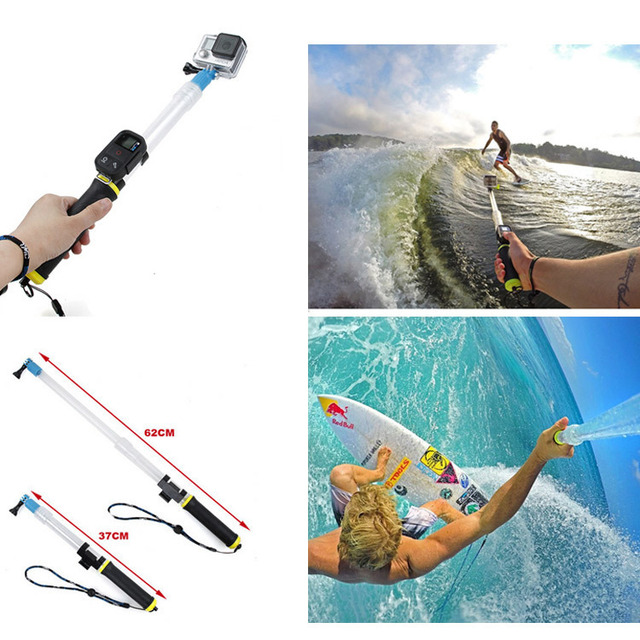 GoPro Accessories adjustable Floating Extension Pole Remote Selfie ...