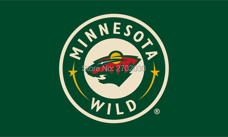 Sinonarui Flag Store Minnesota Wild National Ice Hockey Sports Team 3ft X 5ft Custom Banners Flags With Sleeve Gromets 90*150CM