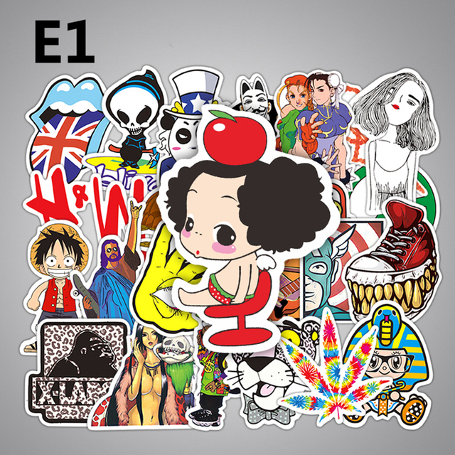Pcs Children Anime Graffiti Stickers Funny Fashion Kids Small Sticker Toy Home Decor Luggage Laptop