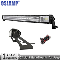 Oslamp 3 Row 50inch 702W Curved LED Light Bar Offroad Combo Led Work Light Bar Mounting