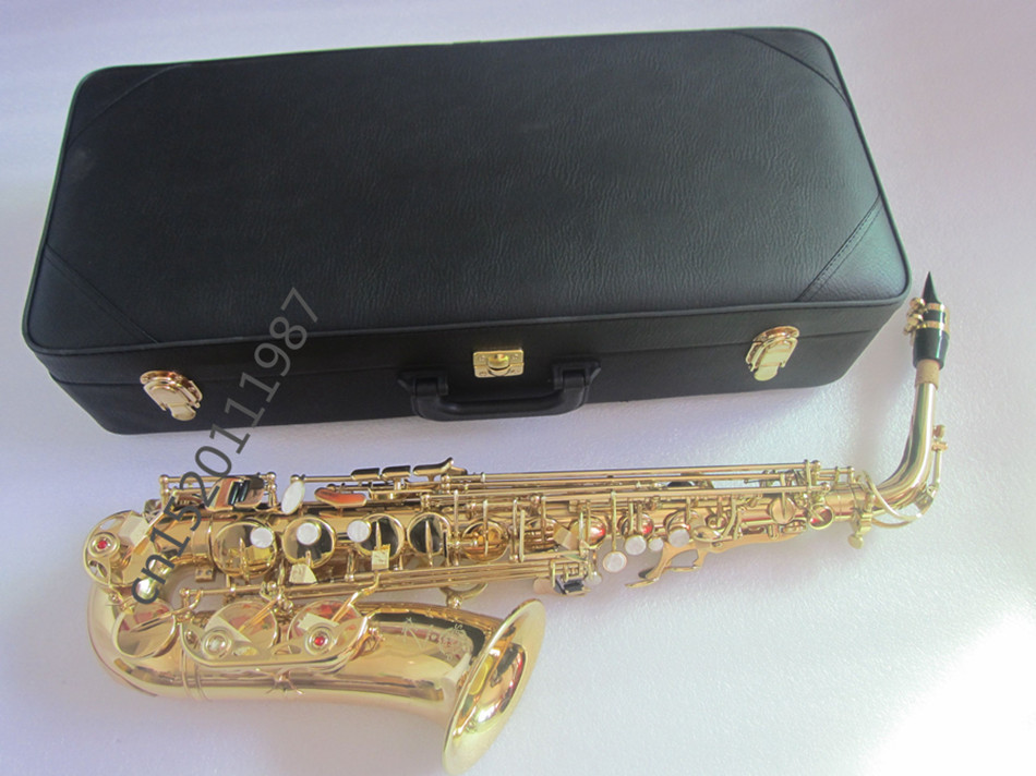 Brand new Alto Saxophone instrument French Selmer SAX 54  Alto Saxophone professional brand gold electrophoresis Free shipment free shipping france henri selmer saxophone alto 802 musical instrument alto sax gold curved saxfone mouthpiece electrophoresis
