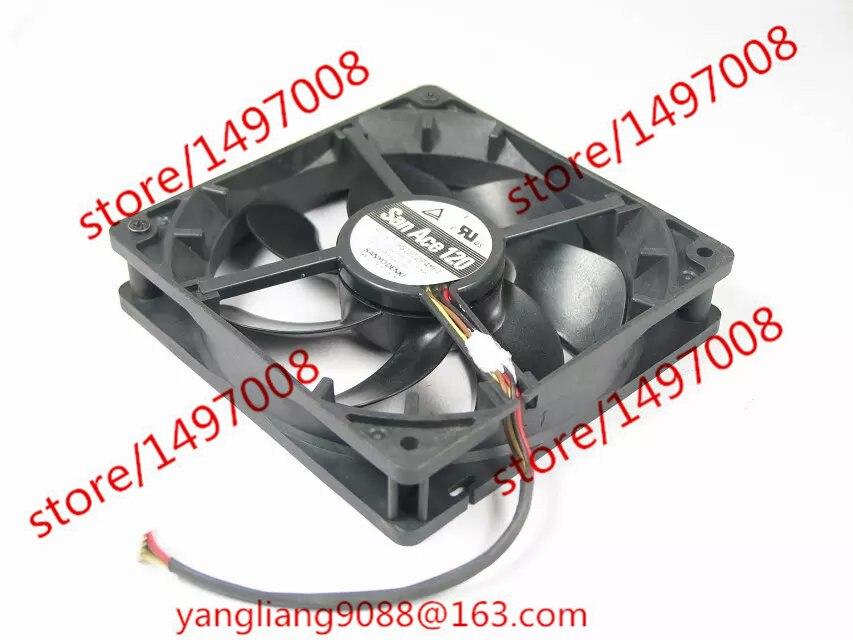 Sanyo 9S1212P4M61 DC 12V 0.13A , 120X120x25mm Server Square fan sanyo 109p1212h4d01 server square cooling fan dc 12v 0 45a 120x120x25mm 3 wire