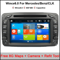 Wince 6 0 OS Car DVD Player For Mercedes W209 GPS NavigationTape Radio Bluetooth 3G SD